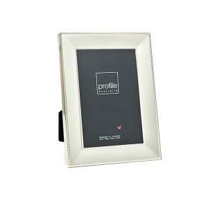 Profile Romance Silver Beaded  Metal 4x6' frame