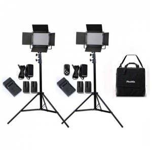 Phottix Kali 50 LED Light Twin Kit - with batteries