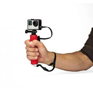 Joby Action Battery Grip - shown in use