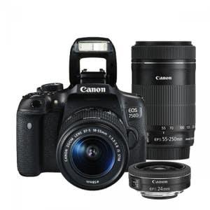 Canon EOS 750D + 18-55mm STM & 55-250mm & 24mm STM