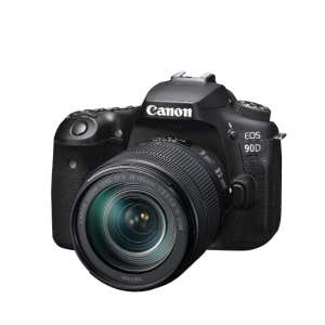 Canon EOS 90D + 18-135mm STM Kit - front angle