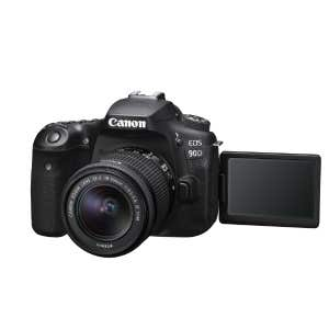 Canon EOS 90D + 18-55mm STM Kit - front angle