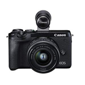 Canon EOS M6 MKII + 15-45mm kit w/ EVF - front