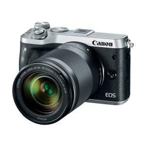 Canon EOS M6 + 18-150mm Silver - angle