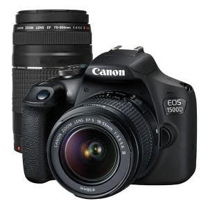Canon EOS 1500D Kit + EF-S 18-55mm STD & EF 75-300mm Kit