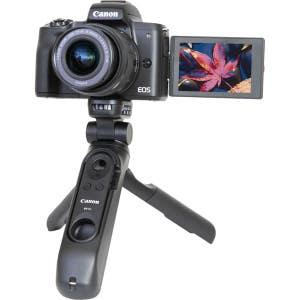 Canon EOS M50 + 15-45mm & HG100TBR Tripod - Vlog Kit