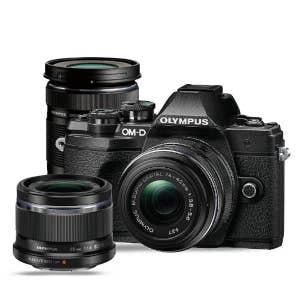 Olympus OM-D E-M10 Mark III Triple Lens Kit - Black