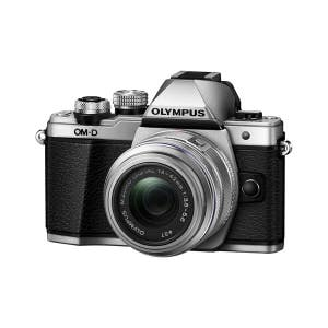 Olympus OM-D E-M10 Mark III + 14-42mm R Zoom Kit - Silver - front angle
