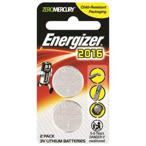 Energizer CR2016 Lithium Battery -  Twin Pack