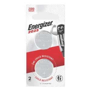 Energizer CR2025 3V Lithium Battery - Twin Pack