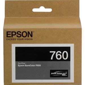 Epson T760 Ultrachrome Matte Black Ink for P600