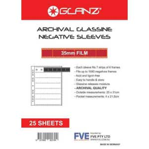 Glanz 35mm Profile Negative Sheets - 25 Sheets