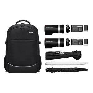 Godox AD300 Pro TTL Two Head, Umbrella & Softbox Flash Kit