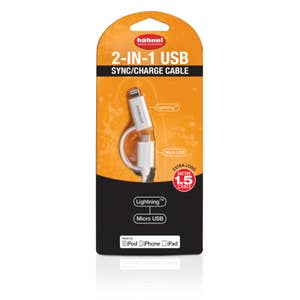 Hahnel 2-in-1 Sync/Charge USB Cable