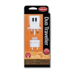 Hahnel Duo Travel USB Charger (Twin USB Ports)