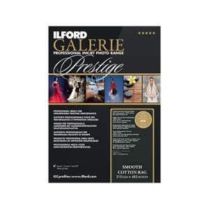 Ilford Galerie Prestige Smooth Cotton Rag Inkjet Photo Paper A2 25 pk