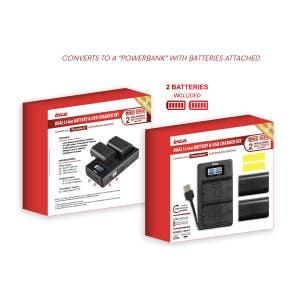 Inca Dual USB Charger & Battery Kit - Canon LP-E10