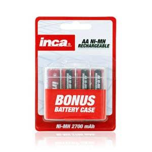 Inca AA Ni-Mh Batteries 2700mAh 4 Pack