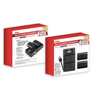 Inca USB Dual Charger with 2x Fujifilm NPW126 Batteries