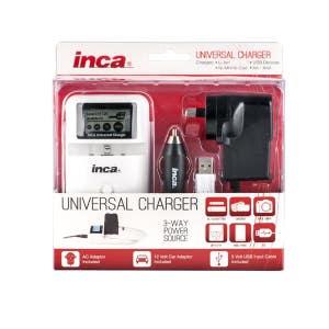 Inca Universal Charger w/LCD (For Lith/4xAA/USB)