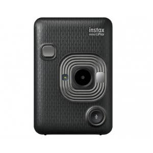 Fujifilm Instax Mini LiPlay Instant Camera - Dark Grey - front