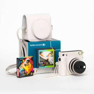 Fujifilm Instax SQ1 Instant Camera Photo Kit - White
