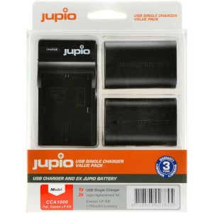 Jupio Canon LPE6 Value Pack - USB Charger + 2x Battery