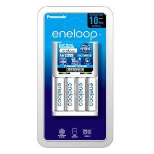 Eneloop Basic Charger + 4 xAA NIMH Batteries