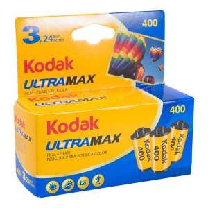 Kodak Ultramax 35mm film - 24 exp 400 ISO - 3 Pack