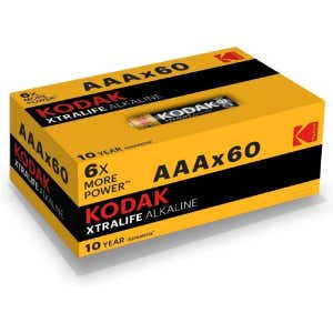 Kodak AA Alkaline Batteries 60x Pack