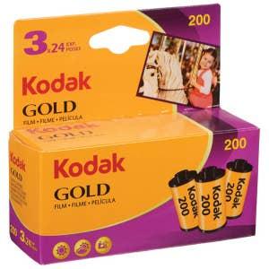 Kodak Gold 200 Colour Film 135-24exp - 3 Pack