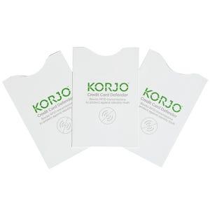 Korjo RFID Credit Card Defender -  3 Pack