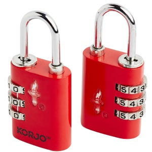 Korjo TSA Combination Lock - Duo Pack