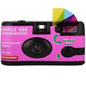 Lomography Simple Use Camera & Flash - Lomochrome Purple