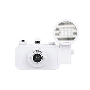 Lomo La Sardina DIY 35mm Film Camera & Flash