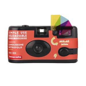 Lomography Metropolis Simple Use Camera with Flash - 36 Exp