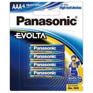 Panasonic Evolta AAA 4x Pack Alkaline Battery