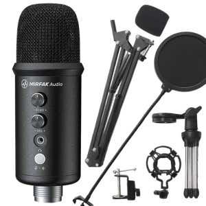 Mirfak TU1 USB Desktop Microphone Kit w/Ext Arm