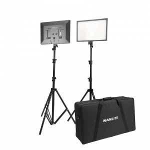 Nanlite Lumipad 25 Soft LED Panel - Twin Light & Stand Kit with Bag