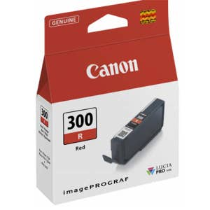 Canon PFI300R Red Ink For PRO300