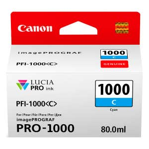 Canon PFI-1000C Cyan Ink Tank for Pixma PRO-1000