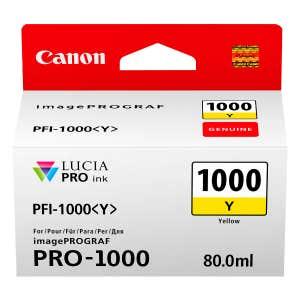 Canon PFI-1000Y Yellow Ink Tank - Pixma PRO-1000