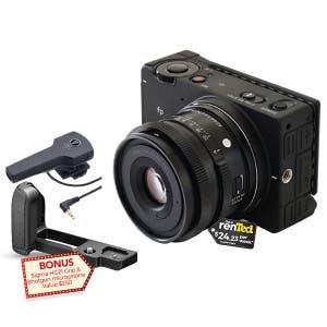 Sigma FP Body with 45mm f2.8 DG DN lens + Grip & Mic