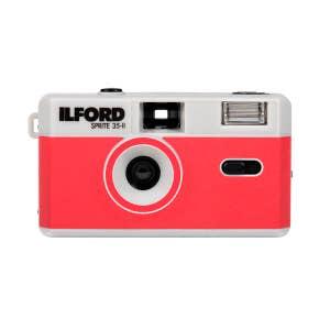 Ilford Sprite 35 II Flash Reusable Camera - Red w/ Bonus Ilford XP2 Film