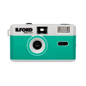 Ilford Sprite 35 II Flash Reusable Camera - Teal w/ Bonus Ilford XP2 Film