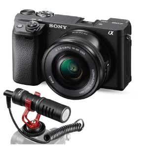 A6400 + 16-50mm & Boya MM1 Video Mic - Vlogging Kit