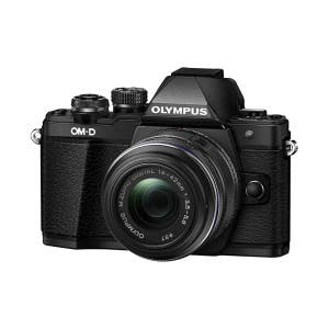 Olympus OM-D E-M10 Mark III + 14-42mm R Zoom Kit Black - front