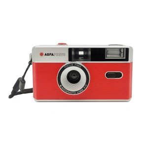 Agfa Retro 35mm Camera w/Flash - Red/Silver