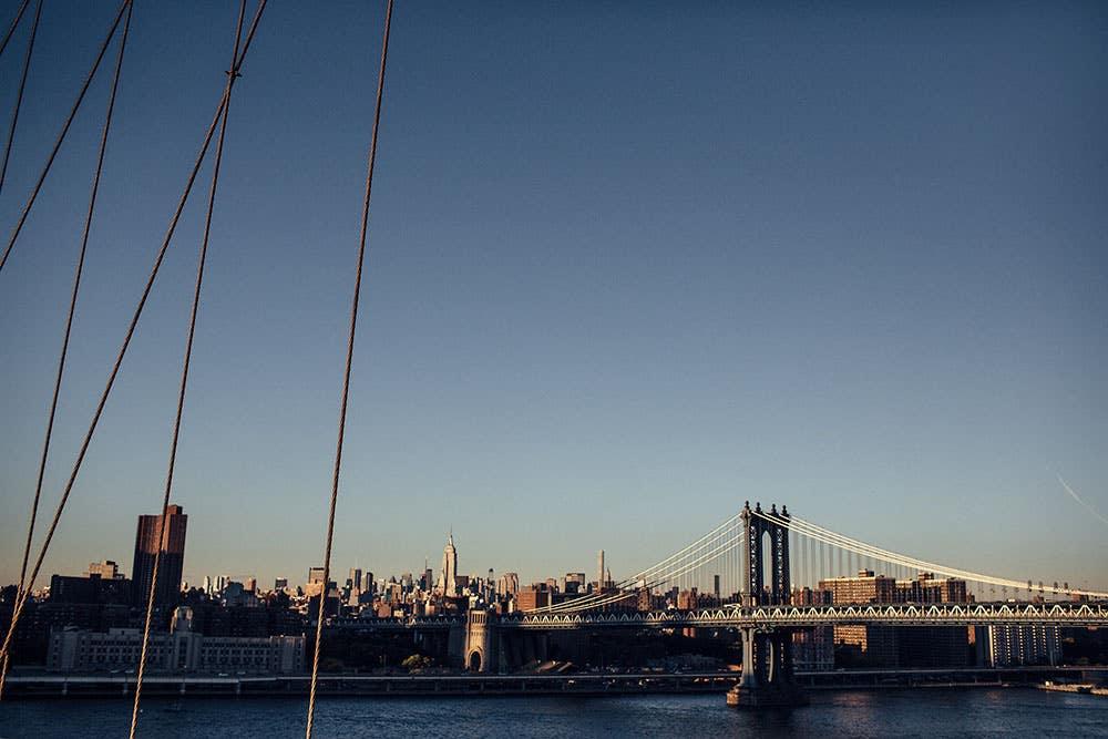 Brooklyn Bridge Looking Towards Manhattan Bridge, New York City, 2015